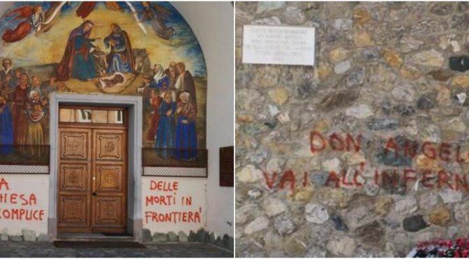Buonisti assaltano chiesa del parroco che non vuole clandestini
