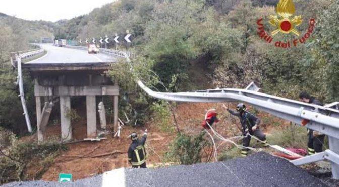 Savona, crolla viadotto su A6 e governo pensa ai clandestini – VIDEO