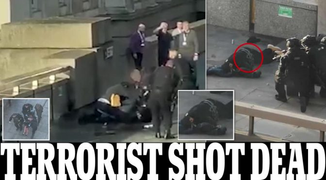 London Bridge, terrorista (islamico?) voleva sgozzare 10 persone: disarmato da eroe a mani nude – VIDEO