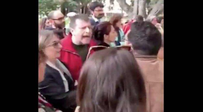 Luca Casarini aggredisce leghista a Palermo – VIDEO