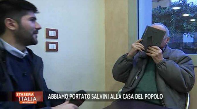 """Salvini spopola nel circolo comunista: """"Il PD non ci rappresenta più"""" – VIDEO"""