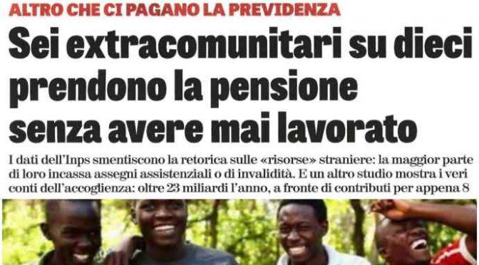 Studio rivela: italiani dovranno pagare le pensioni ai migranti