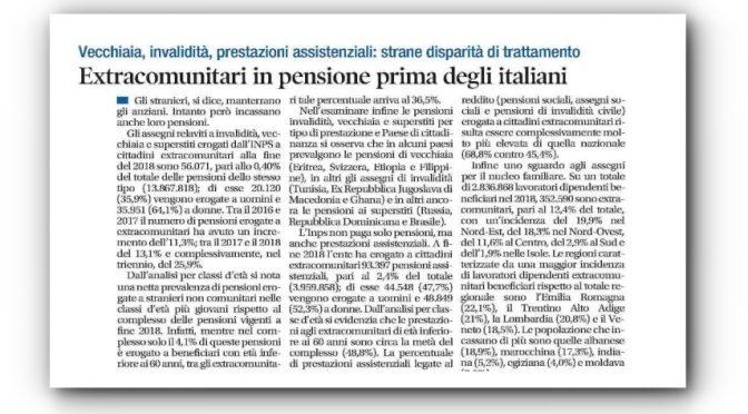 Immigrati in pensione prima degli italiani: numeri scandalo