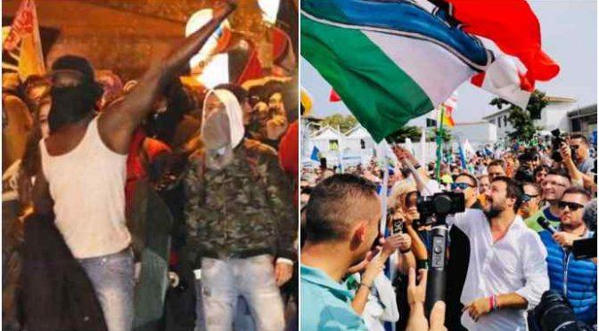 Rivolta italiana a Mondragone, arriva Salvini: è tornato il Capitano? – VIDEO