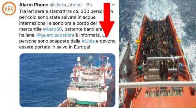 A Pozzallo nave privata con 200 clandestini prelevati in Libia su ordine scafisti