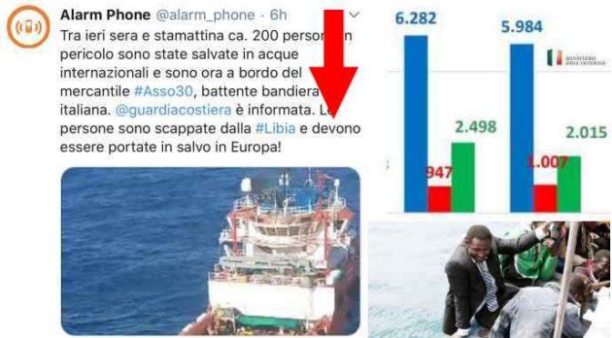 Trafficanti impongono sbarco 200 clandestini in Italia