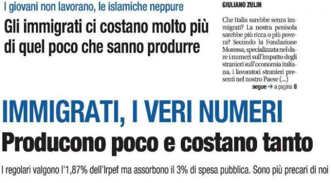 Immigrati, la maggioranza in Italia non lavora: 2,8 milioni scrocconi