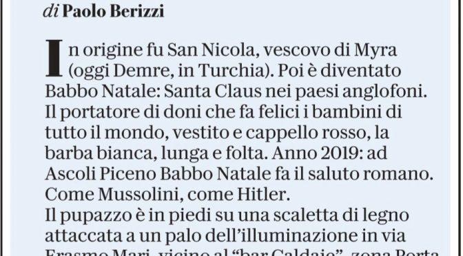 """Repubblica contro Babbo Natale: """"Fascista!"""""""