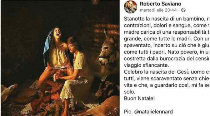 Saviano, polemica per l'immagine della Madonna a gambe aperte
