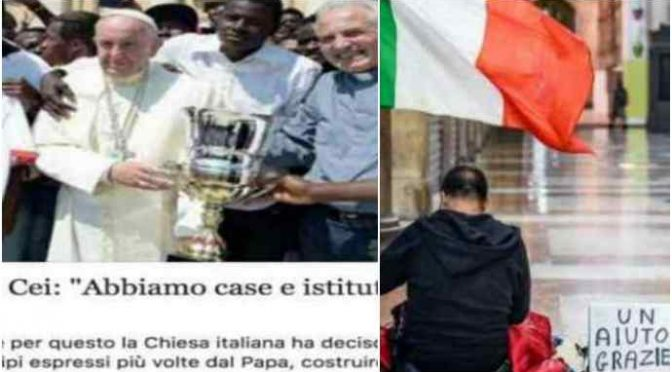 Vergogna Vescovi: danno casa a 1.000 afroislamici e abbandonano 20mila senzatetto italiani