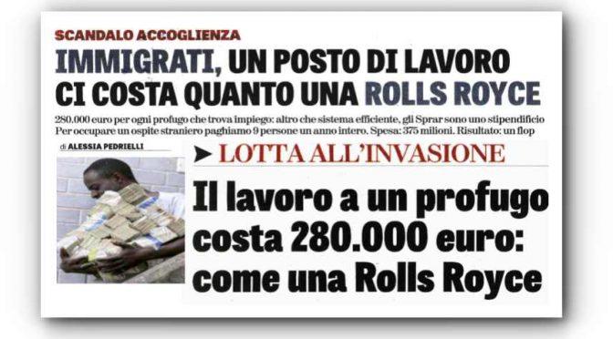 Abbiamo speso 280mila euro per trovare lavoro a 1 profugo