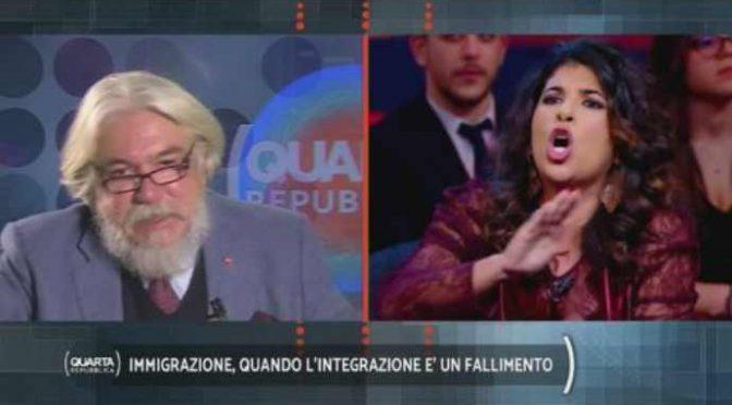 """L'islamica marocchina contro Meluzzi: """"Italia è casa mia"""" – VIDEO"""
