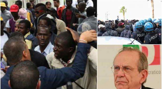 Figlia ministro PD organizza guerriglia africana contro la Polizia: lancio di pietre e assalti