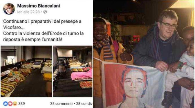 Biancalani, immigrati bivaccano in chiesa prima Messa Natale: e lui celebra Rackete