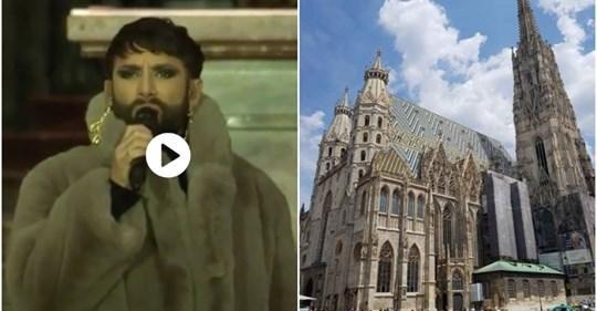 Conchita Wurst canta nel Duomo di Vienna: non c'è più religione