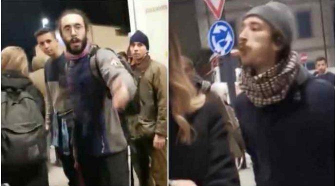 """Sardine dei centri sociali attaccano gazebo Lega: """"Fascisti di m***a"""""""