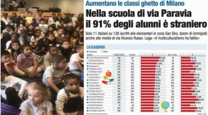 Milano, in metà scuole è invasione di immigrati: 1 su 3 – VIDEO