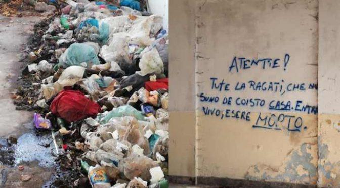 """Nel palazzo degli immigrati animali decapitati: """"Chi entra muore"""""""