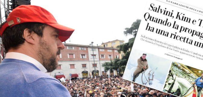 """Repubblica nel panico: """"Salvini come i nazisti e Kim Jong Un"""""""