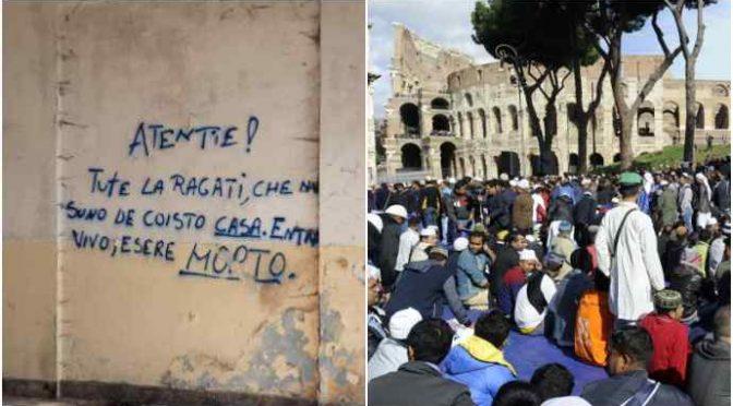 Islamici invadono Roma: fin sotto le finestre di Bergoglio – VIDEO