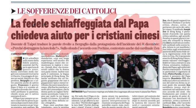 La donna schiaffeggiata da Bergoglio chiedeva aiuto per i cristiani abbandonati da Bergoglio