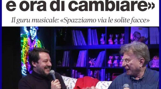 """Red Ronnie vota Borgonzoni: """"E' ora di cambiare"""""""