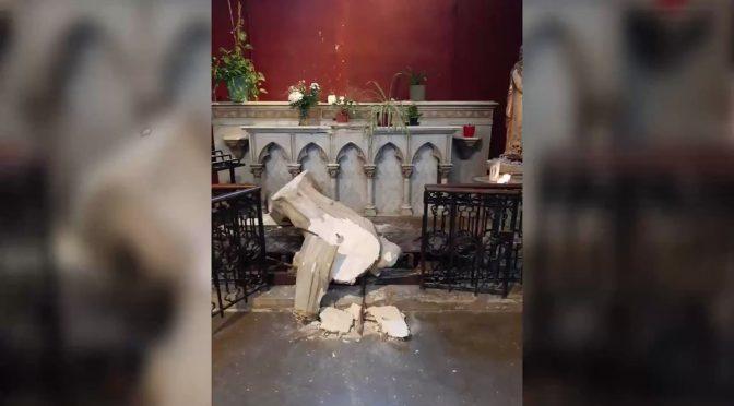 Ondata di chiese profanate in Francia: 3 al giorno – VIDEO