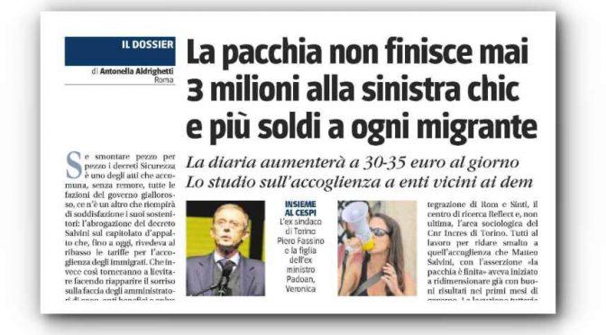 Torna la pacchia: tornano i 35 euro per ogni immigrato
