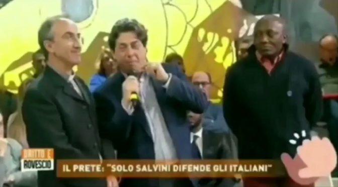 """Missionario vota Salvini: """"L'unico che difende gli italiani"""", furia PD – VIDEO"""