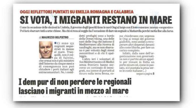Centinaia clandestini ONG sbarcheranno dopo voto in Emilia Romagna