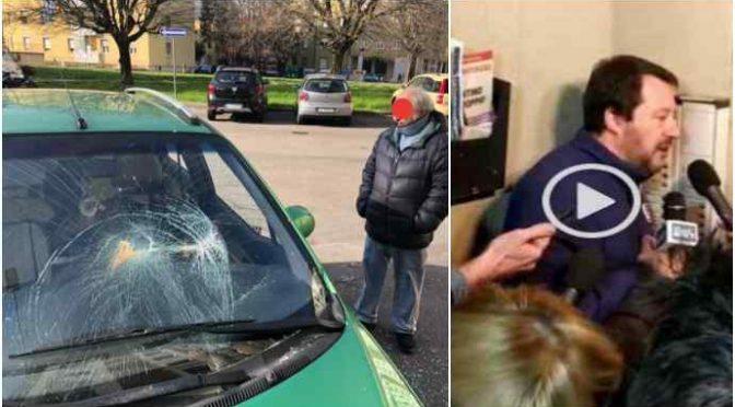 Salvini al Pilastro, ritorsione spacciatori contro cittadini: vandalizzata auto Anna Rita – FOTO