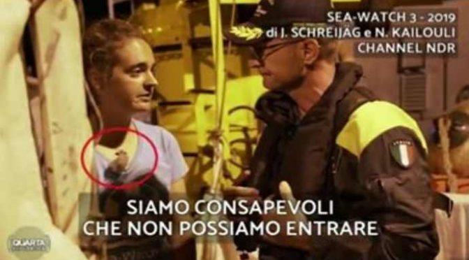 """Rackete, Sea Watch: """"A bordo TV tedesca, attacco preparato contro l'Italia di Salvini"""" – VIDEO"""