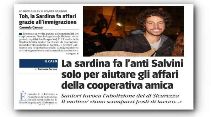 La Sardina Santori fa affari con coop accoglienza immigrati