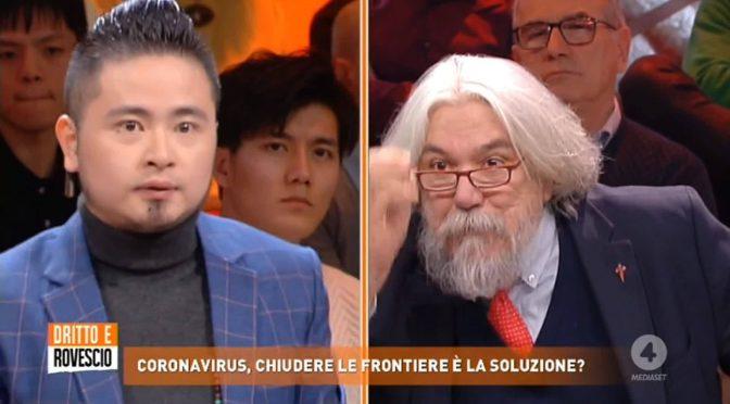 """Meluzzi contro il cinese: """"I cretini che sottostimano coronavirus moriranno"""" – VIDEO"""