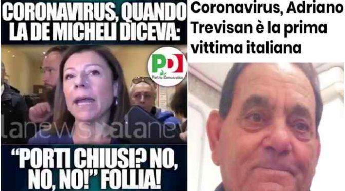 De Micheli, dopo avere fatto morire 2 italiani dà dello sciacallo a Salvini
