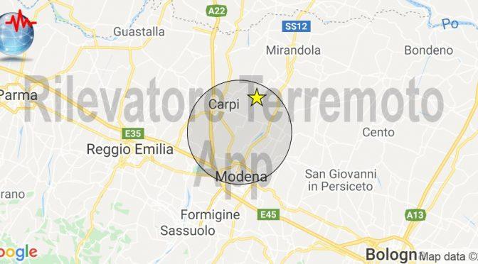 Terremoto in Emilia tra Carpi e Modena