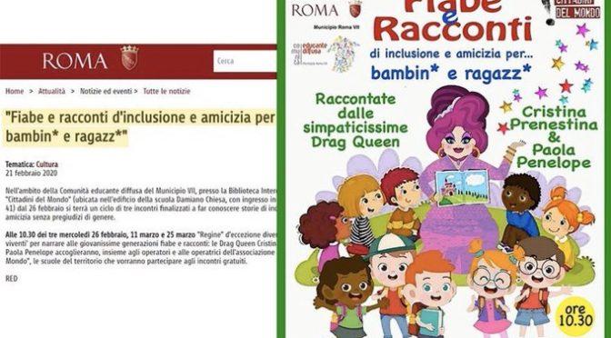 Drag Queen insegneranno l'inclusione ai bimbi di 3 anni nelle scuole di Roma