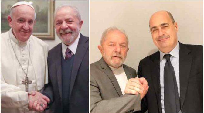 """Vittime terrorista Battisti contro Bergoglio e Zingaretti: """"Incomprensibile l'abbraccio a Lula"""""""