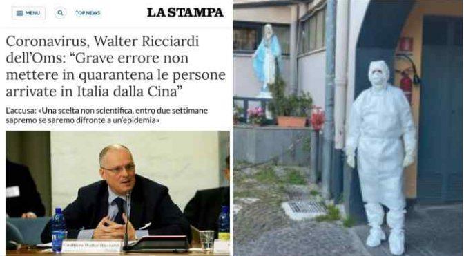 """OMS accusa governo italiano:""""Grave errore non mettere in quarantena i cinesi*"""" – VIDEO"""