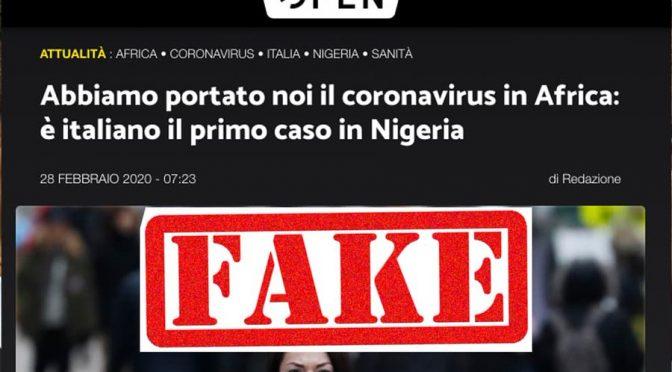 Non abbiamo portato il Coronavirus in Africa: la falsa notizia di Open