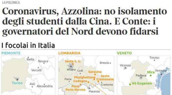 Coronavirus, decreto governo chiude 10 aree infette: cittadini saranno prigionieri come in Cina