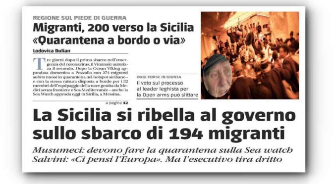 """Coronavirus non ferma la follia del governo: """"Devono sbarcare in Italia"""""""
