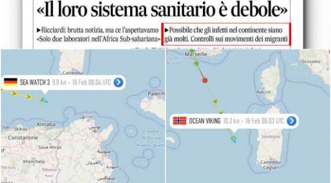 Coronavirus in Nordafrica: flotta Ong traghetta clandestini senza controlli, emergenza