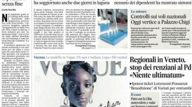 Per Vogue la bellezza italiana è nera, proteste