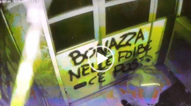 """""""Bonazza nelle Foibe c'è posto"""", minacce della sinistra – VIDEO"""