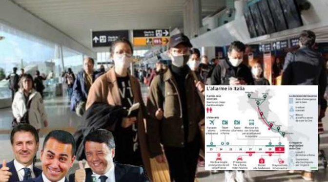 Coronavirus: un esercito di 100mila cinesi è sbarcato in Italia nell'ultimo mese, quanti infetti?