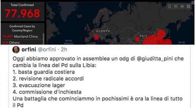 """Coronavirus dilaga, la priorità del PD: """"Portare più immigrati in Italia"""""""