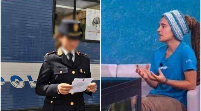 """Poliziotta punita per post contro Rackete: """"Lurida zecca"""""""