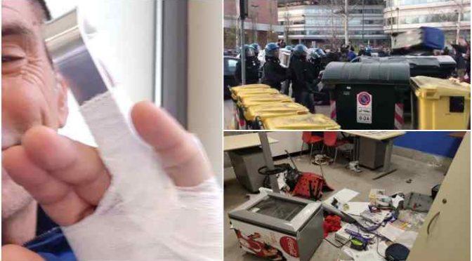 Centri sociali mandano all'ospedale 3 poliziotti: spezzano dito ad agente – FOTO