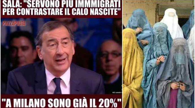"""Il piano genocida di Sala: """"Immigrati per sostituire bambini italiani"""" – VIDEO"""
